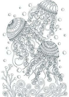 Treasures in the Ocean Adult Coloring Pages by Joenay Inspirations                                                                                                                                                                                 Más