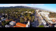 Drone video from the Beverly Hills area