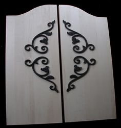 Wrought iron style for doors. Door Hinges, Sliding Doors, Teen Closet, Living Room Decor, Bedroom Decor, Girls Bedroom, Wall Treatments, Other Rooms, Candle Sconces