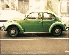 Mint green Volkswagen Beetle
