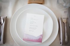 beet and pomegranite dyed paper menus