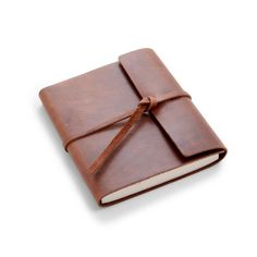 Rustico: Writer's log Small, Top-grain Leather, Flap-Tie Closure, Lined pages with #americanmadeebaysweeps