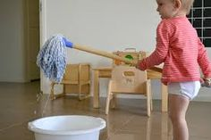 Image result for montessori mopping presentation