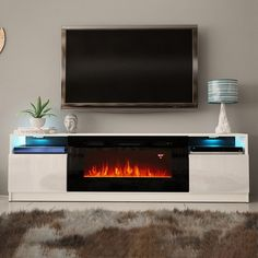 Built In Tv Wall Unit, Wall Units With Fireplace, Tv Over Fireplace, Linear Fireplace, White Fireplace, Modern Fireplace, Living Room With Fireplace, Fireplace Design, Fireplaces With Tv Above
