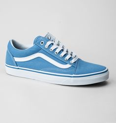 96bbe807c5a Vans Old Skool (Canvas) Trainers Cendre Blue-True White Blue Vans