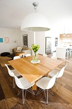 We revisit Josh and Jenna's best 2011 renovation, their kitchen and dining room. It was a win that made them The Block's most awarded couple. Square Dining Tables, Dining Table Chairs, Dining Area, Dining Room, Table Legs, Kitchen Dining Living, New Kitchen, Living Furniture, Home Furniture