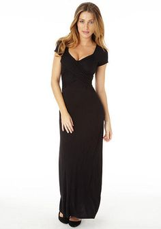 Leah Knit Maxi Dress - Extended Length - Knit maxi dress. Crossover detail in front #MyAlloy #AlloyApparel