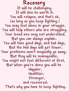 Love this!!!! When working with my substance abuse clients, I think this will be nice for them to read and have : )