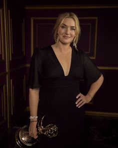 The Emmys, Kate Winslet, Real Women, Kanye West, Beautiful Actresses, Pretty Woman, We Heart It, Wrap Dress, Portrait