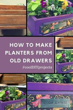 old drawer becomes a planter in 1 hour, chalk paint, container gardening, gardening, painted furniture, repurposing upcycling, How to Make Planters from Old Drawers