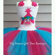 Princess Poppy trolls dress trolls tutu dress Poppy troll