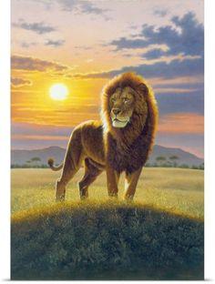 Chris Hiett Poster Print Wall Art Print entitled Lion, None