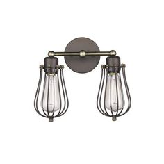 Shop for Chloe Loft/ Industrial 2-light Oil Rubbed Bronze Wall Sconce. Get free delivery at Overstock.com - Your Online Home Decor Destination! Get 5% in rewards with Club O!