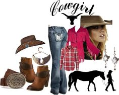 """Cowgirl Style"" by lovetodrinktea ❤ liked on Polyvore"