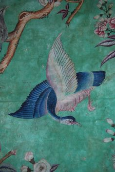 Chinoiserie Bird Wallpaper