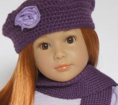 Close up of Kidz 'n' cats Lauryn, a limited edition blue eyed doll with red hair. She's beautiful!