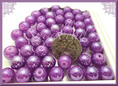 Hey, I found this really awesome Etsy listing at https://www.etsy.com/listing/223649722/50-spring-purple-round-glass-beads-8mm