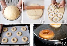 Cómo hacer donuts caseros (y sus glaseados) - Megasilvita Mini Donuts, Doughnut, Cookie Icing, Food N, Dough Recipe, Empanadas, Mini Cakes, Cake Pops, Deserts