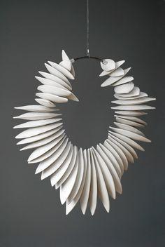 Marie-André Côté (ceramic) - neckpiece or ceiling hung?