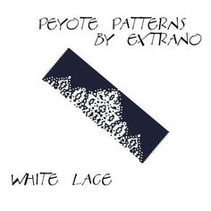 Peyote Bracelet Patterns by Extrano  WHITE LACE  Buy 2 by Extrano, $6.50