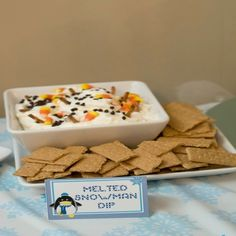 Melted Snowman Dip l #appetizers