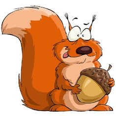 cute squirrel painting | Cartoon Squirrel Animal Images