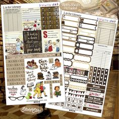 L is for Library  Planner Stickers
