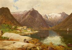 View The Sognefjord in Norway by Georg Eduard Otto Saal on artnet. Browse upcoming and past auction lots by Georg Eduard Otto Saal. Landscape Paintings, Norway, Oil On Canvas, Past, Coastal, Environment, Ocean, Mountains, Beach