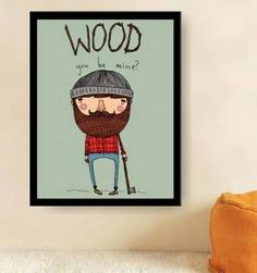 poster wood  30x40 cm
