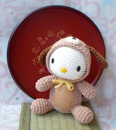 Crochet amigurumi Pattern - Zodiac Dog Kitty - toy doll tutorial PDF.