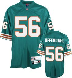 John Offerdahl Reebok NFL Aqua Premier Throwback Miami Dolphins Jersey