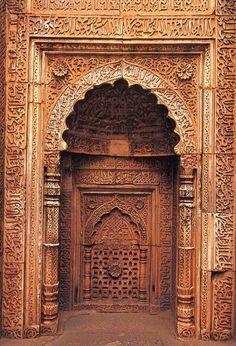 Door of the Tomb of the Mongul Emperor Sultan Iletmish in Delhi, India - Doors of the world