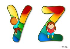 YZ Printable Alphabet Letters, Cute Alphabet, I School, Back To School, The Beach Boys, Cute Clipart, Letters And Numbers, Winnie The Pooh, Kindergarten