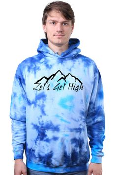 Tumblr Hoodie Travel Gift Lets Get High Mountain by LinkTee