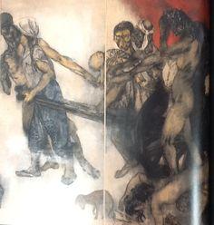 Hiroshima Panels Hiroshima, Melbourne Australia, Drawings, Painting, Art, Art Background, Painting Art, Kunst, Gcse Art