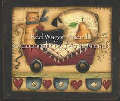 Red Wagon Friends Terrye French email di PaintingWithFriends