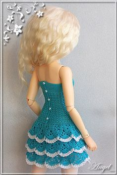 Фотография Crochet Barbie Patterns, Crochet Doll Dress, Crochet Barbie Clothes, Doll Dress Patterns, Baby Doll Clothes, Accessoires Barbie, Barbie Wardrobe, Barbie Basics, Barbie Dress