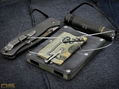 Boker Plus Titan Drop Solarforce Z2 My DIY Micarta Front Pocket Wallet / Minimalist Wallet odellstudios.com