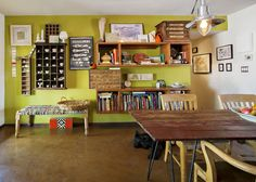 Cyndi's Fearless Family Home - love all the various shelving