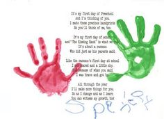 """<3 first day of School activity corresponding with the book """"The Kissing Hand"""" first day of preschool craft activities - Bing Images"""