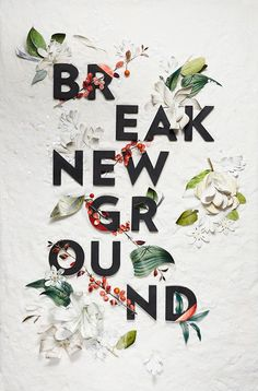 BR/EAK NEW GR/OUND