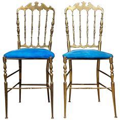 Brass Chiavari Chairs | From a unique collection of antique and modern chairs at https://www.1stdibs.com/furniture/seating/chairs/