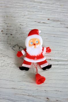 1970s santa pin // retro Christmas // animated by umbrellafant, $5.00