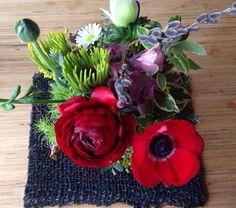 赤い花で 元気をもらう
