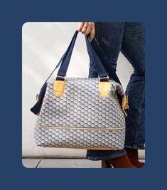 Sac de voyage Annabel - Laine-et-Chiffons Leather Craft, Leather Bag, Sac Week End, Louis Vuitton Damier, Diys, Shoulder Bag, Tote Bag, Sewing, Crochet