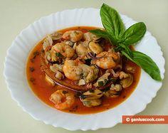 Mollusk and Shrimp Soup