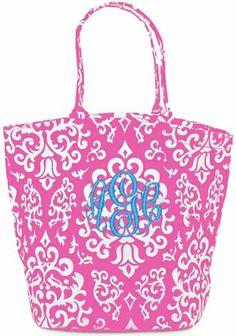 Pink Vintage Glam Monogrammed Large Bettie Bag