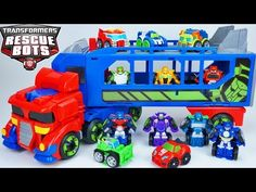 Transformers Rescue Bots Optimus Prime Trailer Flip Racers Blurr Sideswipe Bumblebee Race Fast - YouTube Optimus Prime, Boy Toys, Toys For Boys, Hot Rod Transformers, Best Christmas Toys, Transformer Party, Rescue Bots, Lego Marvel Super Heroes, Electrical Wiring