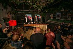 """Musicomedia da man de Píscore en A Barra Bar: """"Concerto Singular"""". Programa """"Rúa dos Contos"""", xentileza de Cerveza 1906 Black Coupage"""