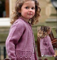 Knitting pattern Girls lovely Cardigan DK 3 yrs to 12 years